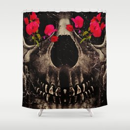 Death and Flowers Shower Curtain