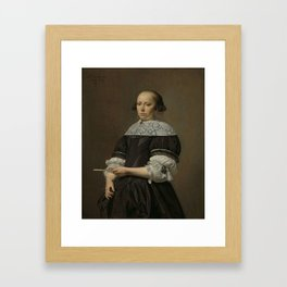 Elisabeth van Kessel (1640-1717), Wife of Willem Jacobsz Baert, Caesar Boëtius van Everdingen, 1671 Framed Art Print