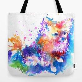 Pop Art Pomeranian Tote Bag