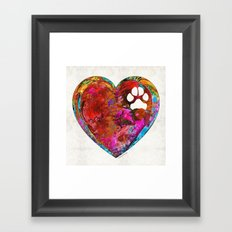 Dog Art - Puppy Love 2 - Sharon Cummings Framed Art Print