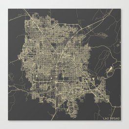 Las Vegas Map #1 Canvas Print