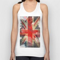 union jack Tank Tops featuring Union Jack by Honeydripp Designs