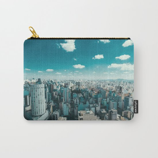 city blue 4 Carry-All Pouch