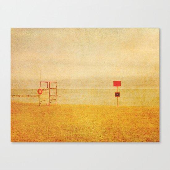 No Lifeguard On Duty Canvas Print