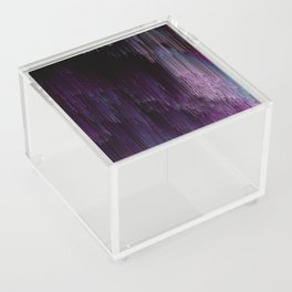Darkness Glitches Out - Abstract Pixel Art Acrylic Box
