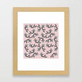 Koi Fish Pattern Framed Art Print