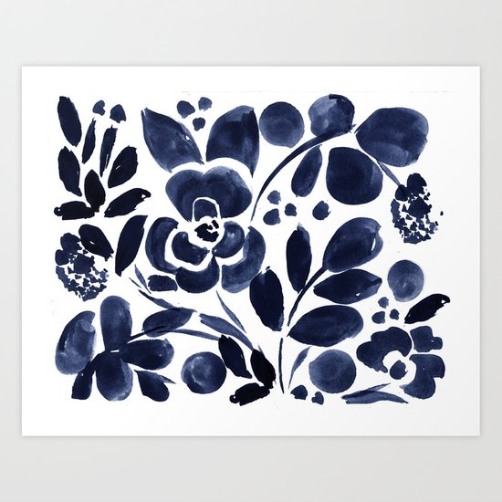 Navy Floral by crystalwalen