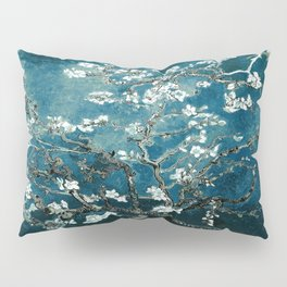 Van Gogh Almond Blossoms : Dark Teal Pillow Sham