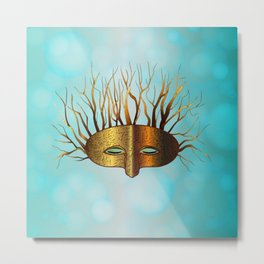 Green Man Slumbers Metal Print