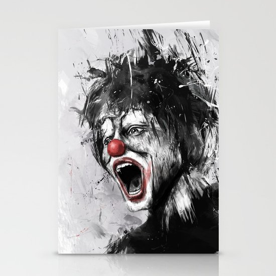 the clown Stationery Cards