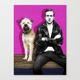 Ryan Gosling and friend Canvas Print