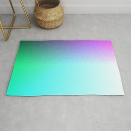 Six Color Ombre Cyan, Purple, Green, Pink, Purple, Blue, Spectrum Flame Texture  Rug