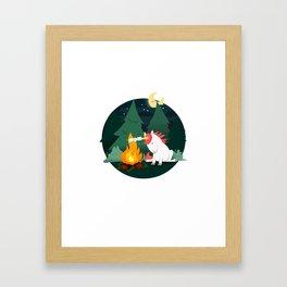 Forest of the Unicorn Framed Art Print