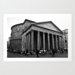 the pantheon b&w Art Print