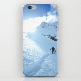 Mountain photography / Mountain & Snow Poster iPhone Skin