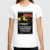 brussels T-shirts featuring Vector art deco Brussels 1930s auto salon by aapshop