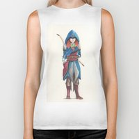 merida Biker Tanks featuring Assassin Merida by Amanda