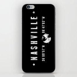 Nashville, geographic coordinates iPhone Skin