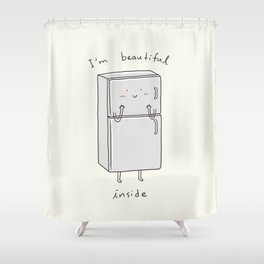 I'm Beautiful Inside Shower Curtain
