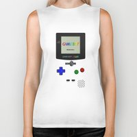 gameboy Biker Tanks featuring GAMEBOY COLOR by Smart Friend
