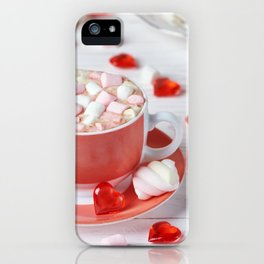 Hot chocolate with marshmallows iPhone Case