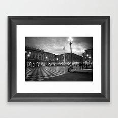 the square in Nice Framed Art Print