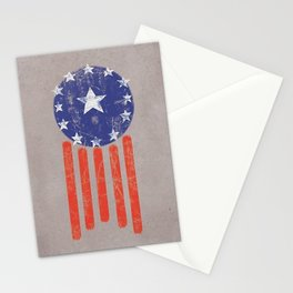 Old World American Flag Stationery Cards