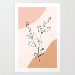 Eucalyptus Line Art Art Print