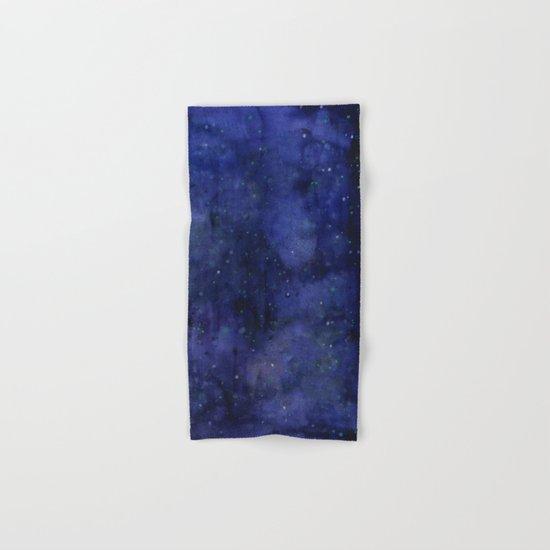 Galaxy Watercolor Nebula Texture Night Sky Stars Hand & Bath Towel