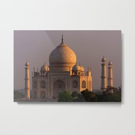 Taj Mahal Sunset Metal Print