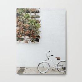 Wall Plants + Bike Metal Print
