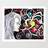 Bubble Breath Art Print