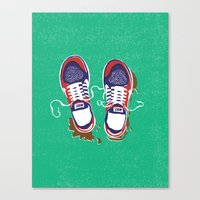 nike Canvas Prints featuring Nike trainers by Nomeski