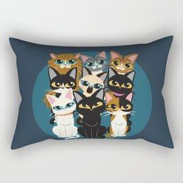Nine cats Rectangular Pillow