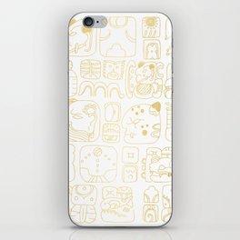 Mayan Glyphs - gold palette iPhone Skin