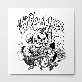 Happy Halloweed Metal Print