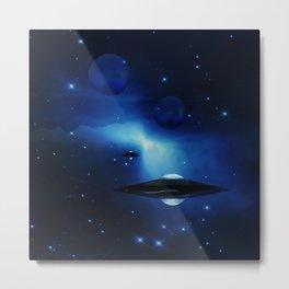 UFO galaxy Metal Print