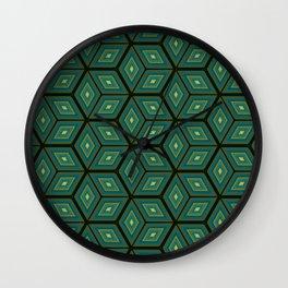 Cubed Geometrical Pattern Wall Clock
