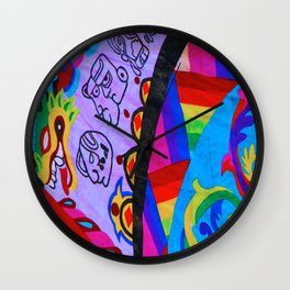 Up close - Guatemalan Kites Wall Clock