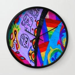 Up close - Guatemalan Kites Wall Clock