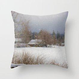 Winter Wonderland - Country Art Throw Pillow