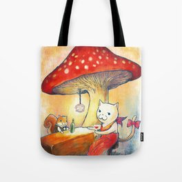 Quiet bar in the forest Tote Bag