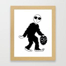 Bigfoot Hoax (I knew it wasn't a man in a costume!) Framed Art Print