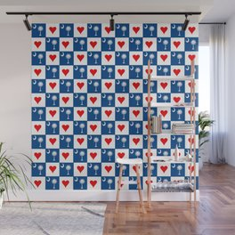 flag of south carolina with hearts Wall Mural