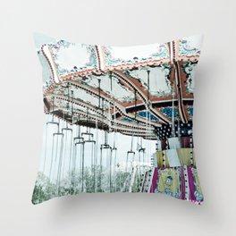 Flying Circus Throw Pillow