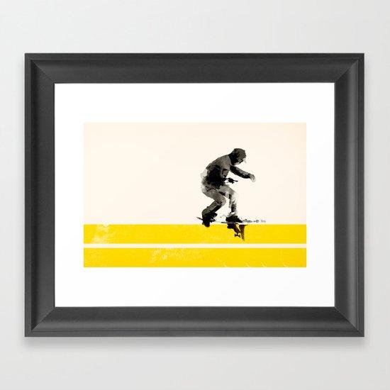 Slide on stripes Framed Art Print