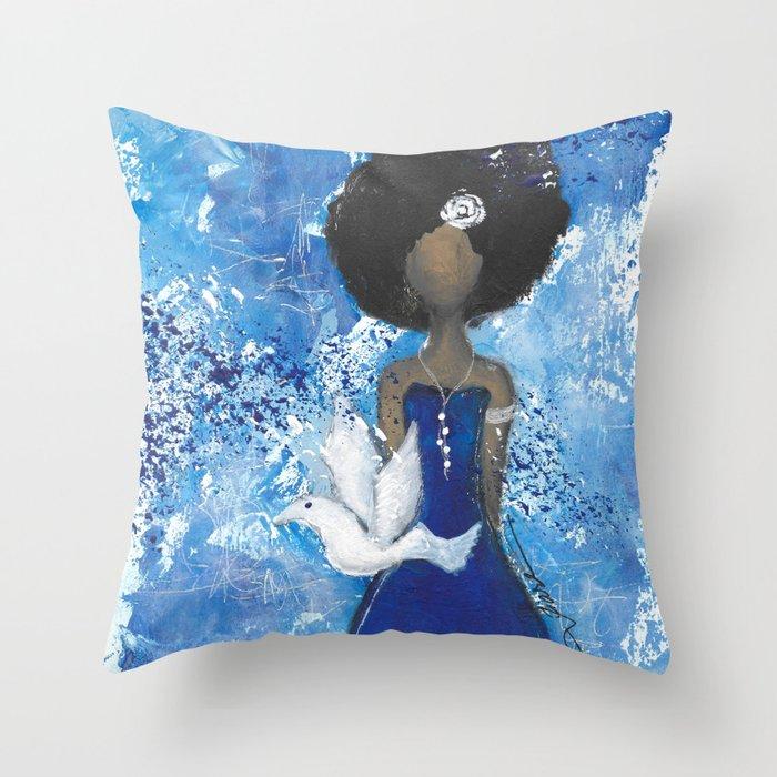 Zeta Angel Throw Pillow