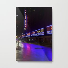 Reflections of Radio City Music Hall Metal Print