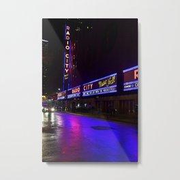 Reflections of Radio City Music Hall Metal Print