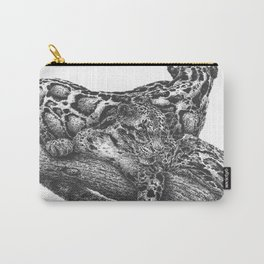 Clouded Leopard Double Image Carry-All Pouch